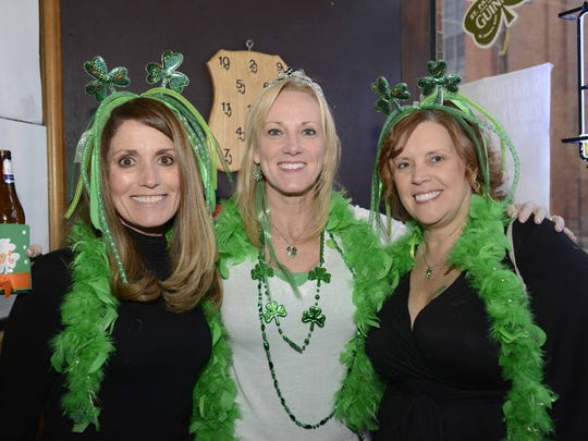 Molly Malone's in Covington celebrated St. Patrick's early with Kegs and Eggs and live music.  On St. Patrick's Day everyone is Irish! Rae DeBord, Cat Sobecki and Helen Schultheiss all from Fairfield.