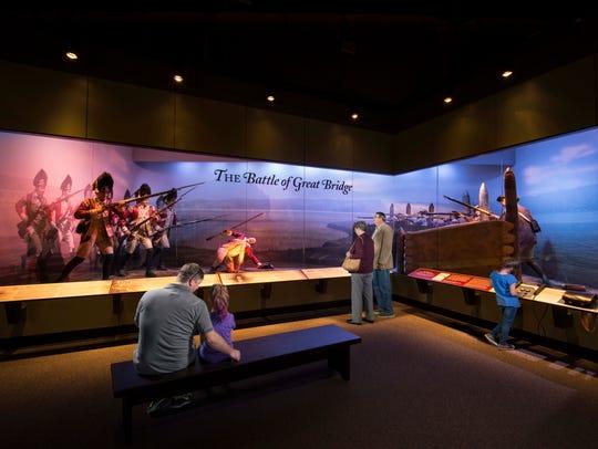 Battle of Great Bridge diorama at American Revolution