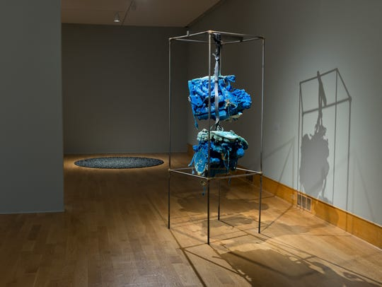 Foreground: Roger Hiorns, Untitled, 2013  Background: