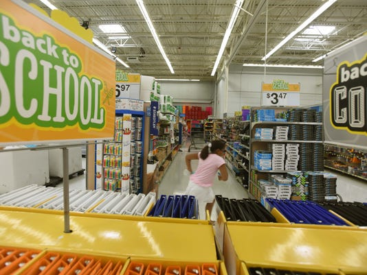 Looking for parents shopping for school supplies for sunday story