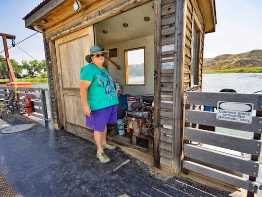 Beverly Terry operates the Virgelle ferry every summer.
