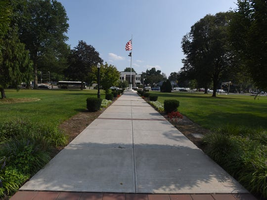 A plan for two memorials on the township green – one
