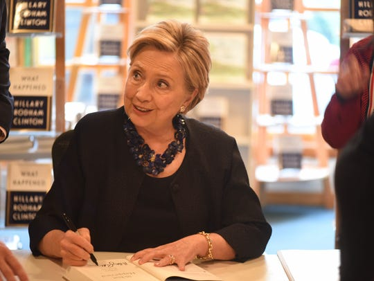 Hillary Clinton was at Watchung Booksellers in Montclair
