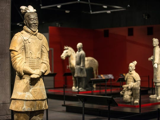 The terracotta warriors were buried for more than 2,000 years until a farmer discovered them in 1974.