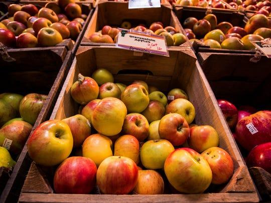 City Market has more than a dozen varieties of apples from Scott Farm in Dummerston.