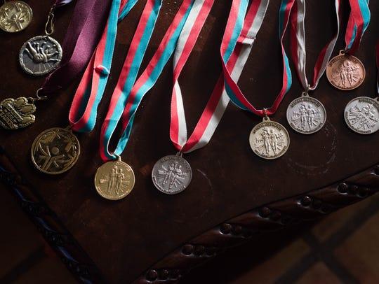 Joshua Salazar has won more than a dozen medals competing
