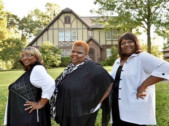 From left, Angela Taylor, Della Daniels and Ester Mae Smith of the soulful gospel trio The Como Mamas stand in front of the Eudora Welty house in Jackson, Mississippi. The trio will perform Sunday at Cascades Parks as part of Word of South.