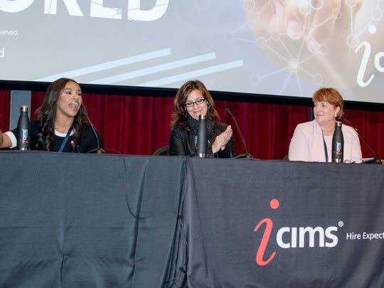Panelists (left to right) Amber Brown, Deanna Farrugia