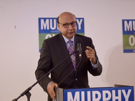 Gold Star father Khiz Khan at a banquet hall in Edison campaigning for Phil Murphy.