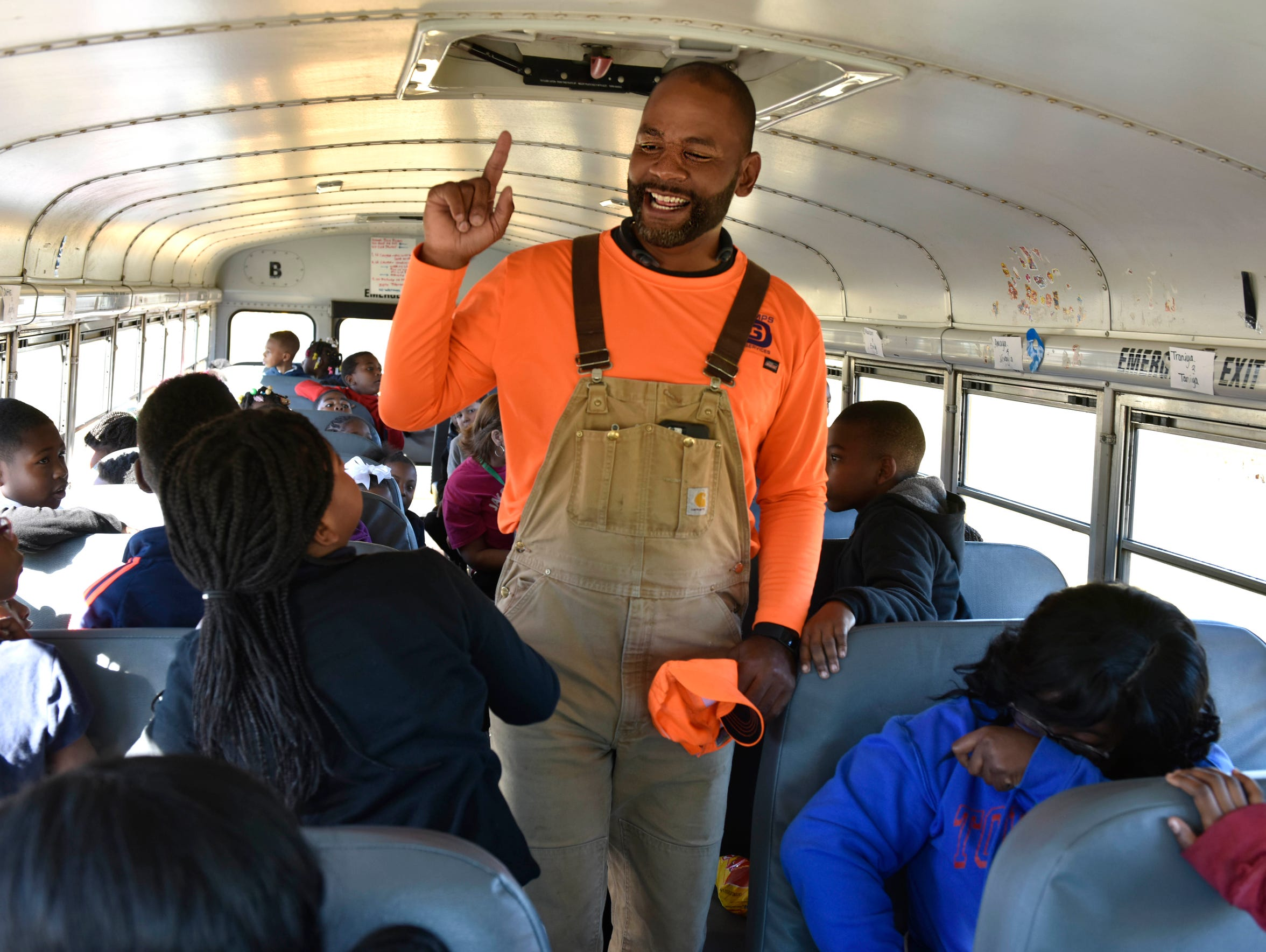Jackson City Councilman De'Keither Stamps greets students from around the state who visit his Trace Pathways Farms in October as part of an  annual Agricultural Field Day.