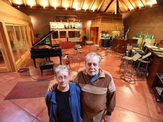 Maureen Sickler and her husband Don Sickler inside