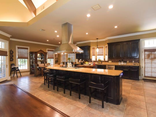 The spacious kitchen is a chef's dream.
