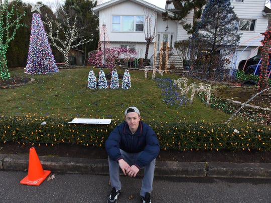 Daniel Eisenberg, 17, has turned his front yard in Demarest into a light show rivaling Cirque du Soleil. It uses 115,000 Christmas lights, all of them blinking in time with music, which Daniel broadcasts on a low-wattage radio station from his basement.