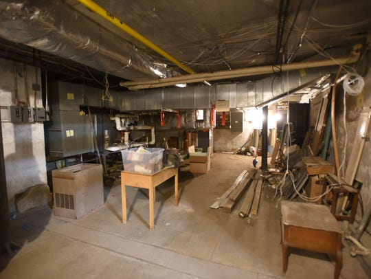 The fallout shelter in the Reid Memorial Branch of