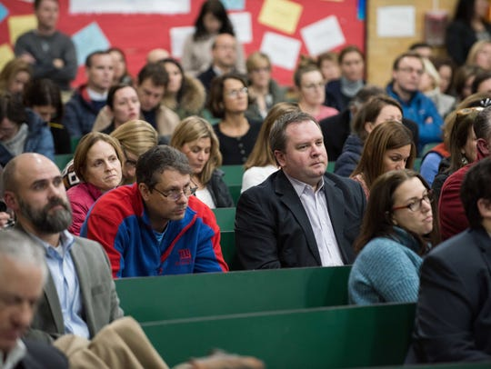 Residents hear legislators at Markham Place School,