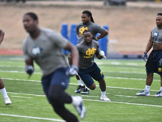 Mississippi College running back Ja'Mori Mark, shown