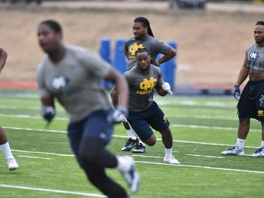 Mississippi College running back Ja'Mori Mark, shown