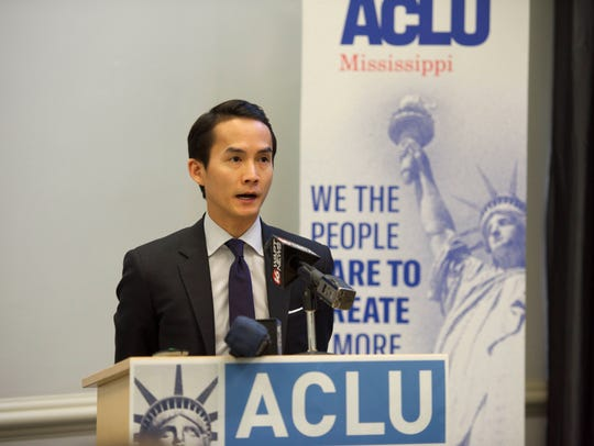 Attorney Joshua Tom, Legal Director, ACLU of MS addresses