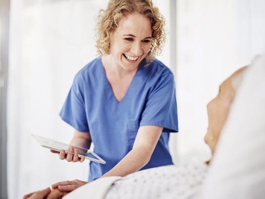 female doctor engages with patient