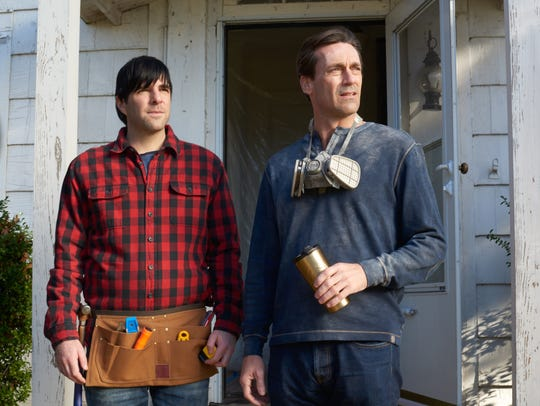 "Zachary Quinto (left) and Jon Hamm star in ""Aardvark."""