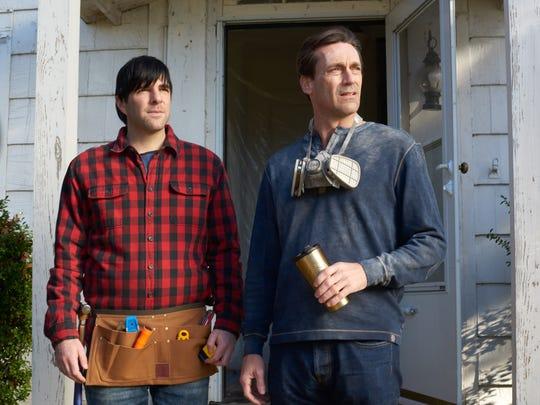 "Zachary Quinto (left) and Jon Hamm star in ""Aardvark."""