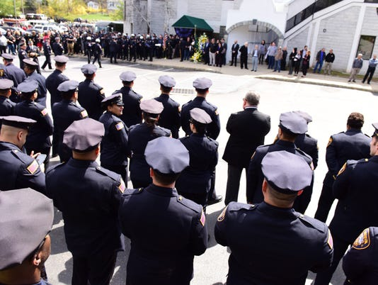 Officer Tamby Yagan's funeral