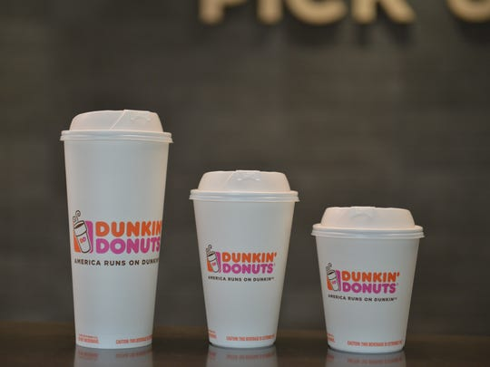 Get a free beverage at Dunkin' Donuts.