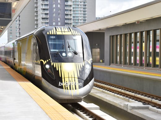 A Brightline Train Makes Test Run Through The New