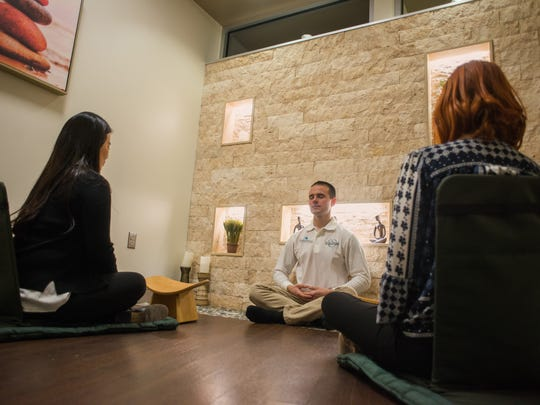 A meditation class at the Graf Center for Integrative Medicine at Englewood Hospital.
