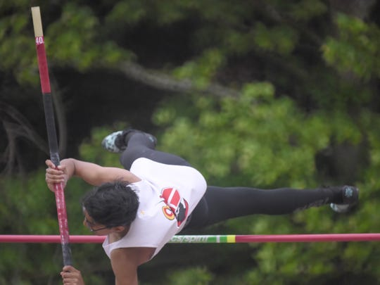 Ivan Jacob of Bergen Catholic (photographed at the 2017 spring Meet of Champions)