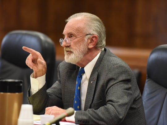 School board trustee Jeffrey P. Fischer, who held dual offices for the Haledon and Manchester Regional boards, argues his case in 2016 before a judge in state Superior Court in Paterson.