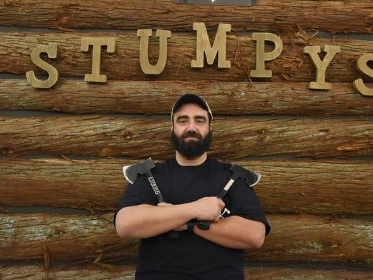 Armando DiRienzo, co-owner of  Stumpy's Hatchet House