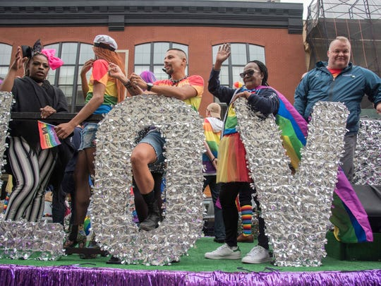 6/03/18  The Asbury hotel float at Jersey Pride Parade  along Cookman Ave. Asbury Park. Photo James J. Connolly/Correspondent