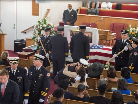 Slain firefighter Andrew Hill's funeral: 'He always had a smile'