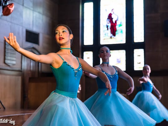 Members of the Tennessee Children's Dance Ensemble,