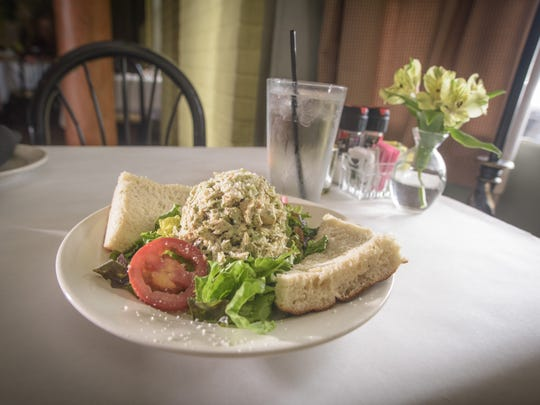 Basil Chicken Salad is a popular item at Antoni's.