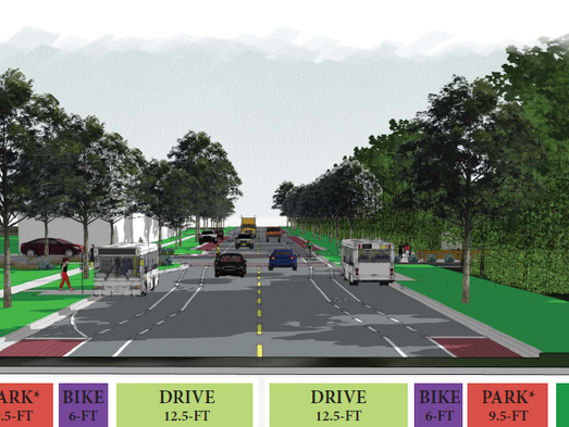 This rendering shows what Wilson Drive would look like