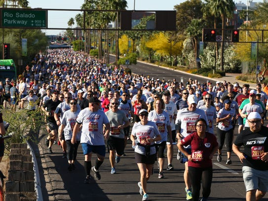 14th Annual Pat's Run on April 21, 2018 at ASU in Tempe,