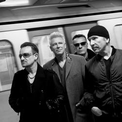 Bono, left, Adam Clayton, Larry Mullen Jr. and The Edge are mourning the passing of U2's tour manager Dennis Sheehan, who died overnight n Los Angeles.