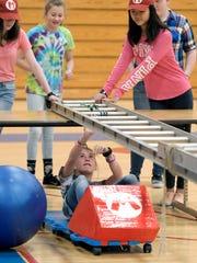 Freedom Middle School students, like Emma Summey, below,