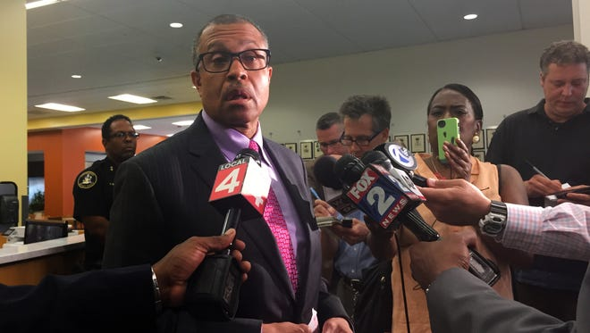 Detroit Police Chief James Craig at a press conference on Monday, July 11, 2016, at police headquarters.