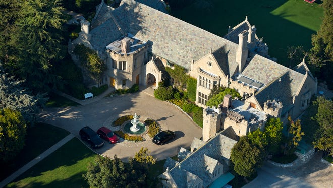 The Playboy Mansion is seen in this aerial photograph, Tuesday, June 19, 2012, in Los Angeles.