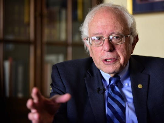 Sen. Bernie Sanders talks to USA TODAY on July 14, 2016 in Washington about his plans to create organizations to carry on his political revolution.