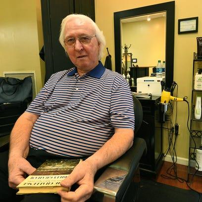 Barber Cecil Groce, at the Urban Salon on Walnut Street,