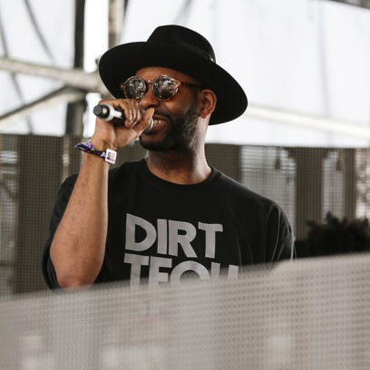 Waajeed performs at Star Gate stage during Movement