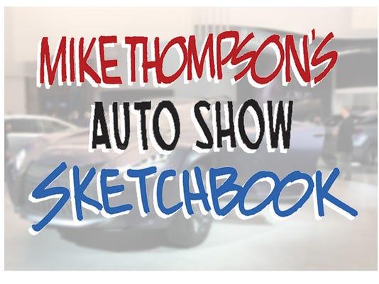 Detroit auto show sketchbook