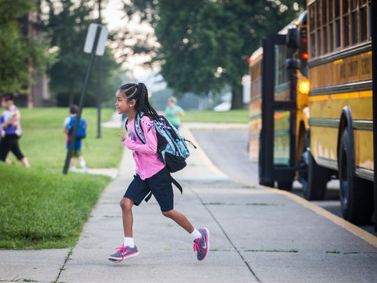 Buses drop students off at South View Elementary School in this file photo.