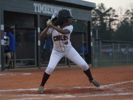 Chiles freshman Amaya Gainer is leading the Timberwolves in batting average this season with a .548 average.