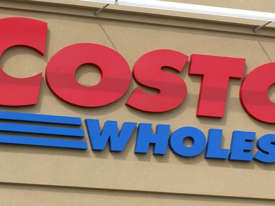 File photo taken in 2002 shows a Costco sign at the  entrance to the membership warehouse company's location in Niles, Illinois.