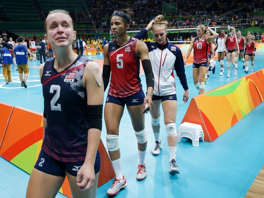 Olympics: Volleyball - USA vs. Serbia